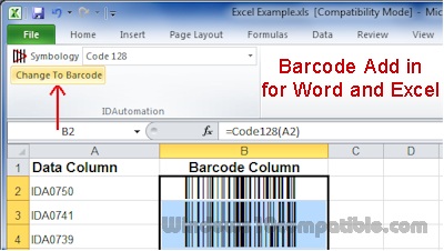 Barcode add-in for word & excel download and installation.